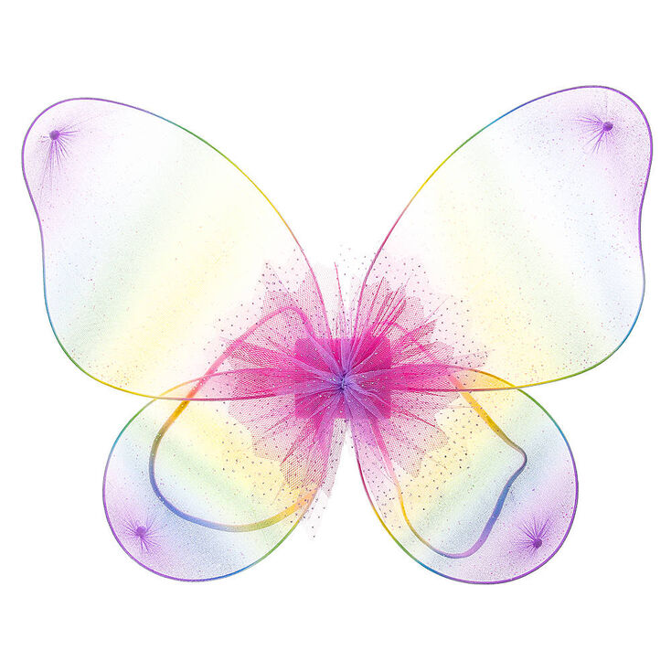 Claire's Club Pastel Rainbow Glitter Butterfly Wings,