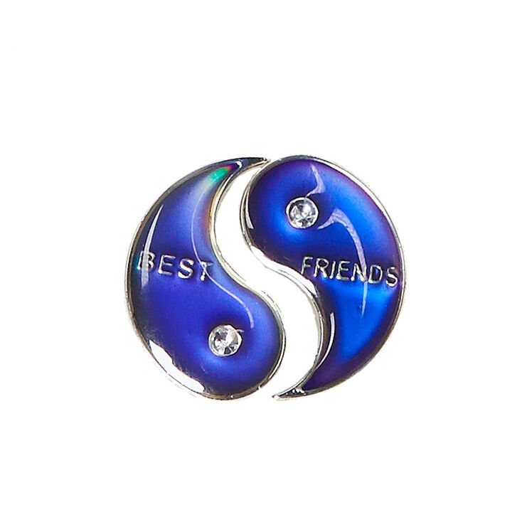 Best Friends Mood Split Yin Yang Symbol Pins Claires