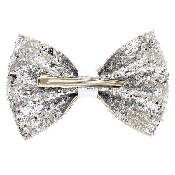 Claire's - mini glitter bow hair barrette - 2