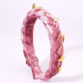 ©Disney Frozen 2 Suede Braided Headband – Dusty Pink,