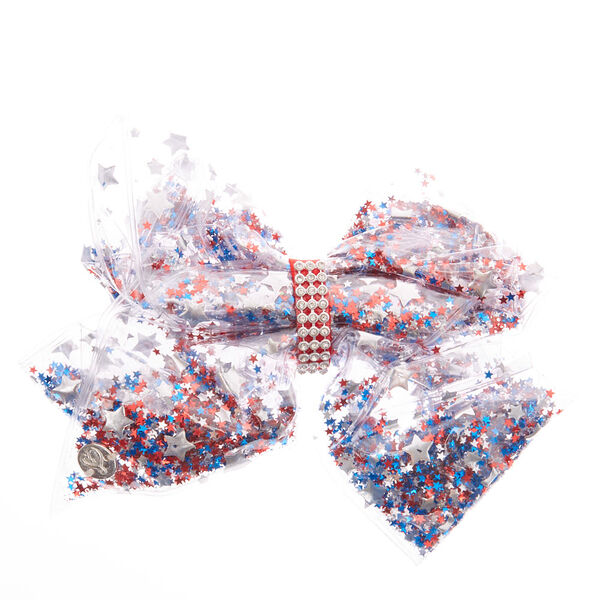 Claire's - jojo siwa™ large star spangled superstar signature hair bow - 2