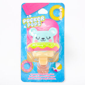 Pucker Pops Floaty Bear Lip Gloss - Coconut,