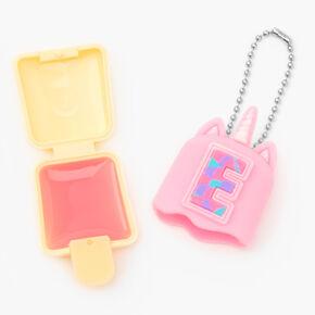 Pucker Pops® Initial Lip Gloss - Pink, E,