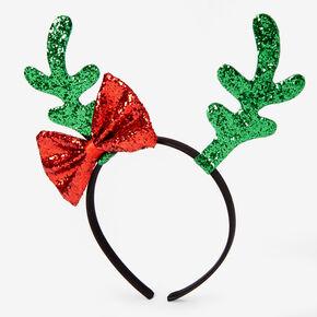 Glitter Antler Bow Headband,