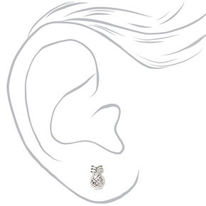 Sterling Silver Tropical Beach Stud Earrings - 3 Pack,
