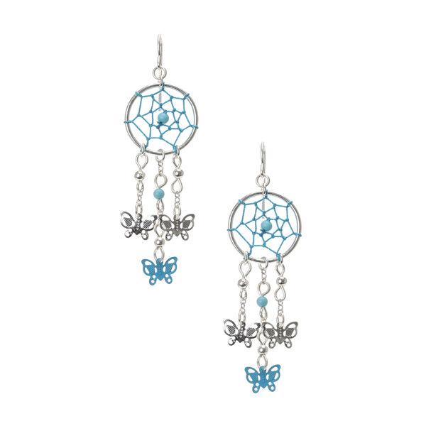 Claire's - dreamcatcher butterfly earrings - 1