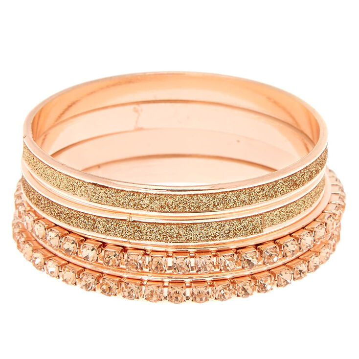 Claire S Club Glitter Crystal Bangle