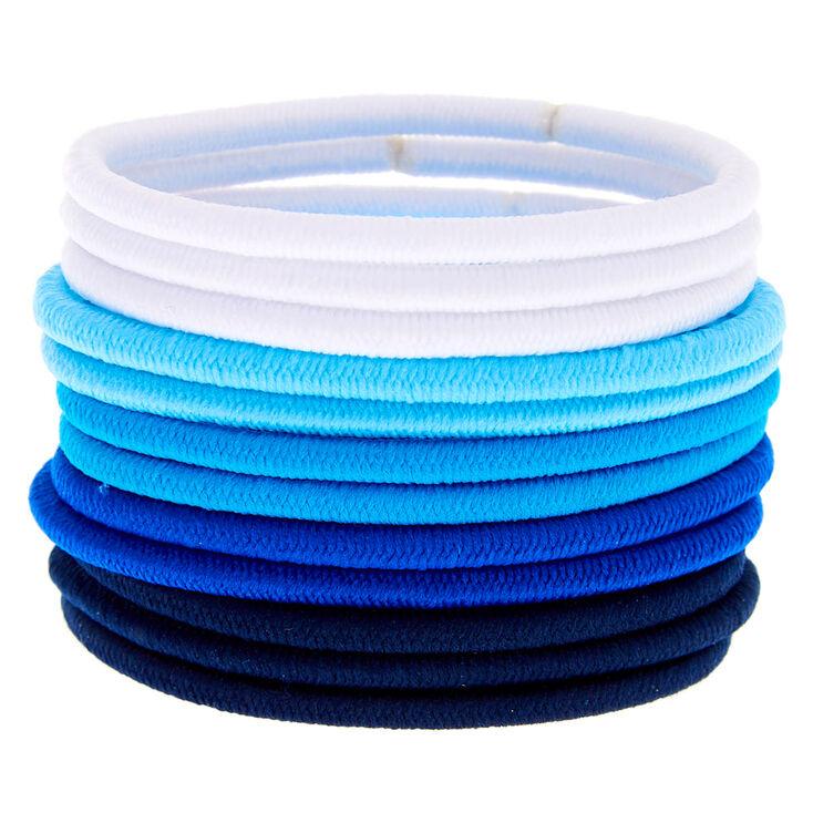 Ocean Breeze Luxe Hair Bobbles - Blue, 12 Pack,