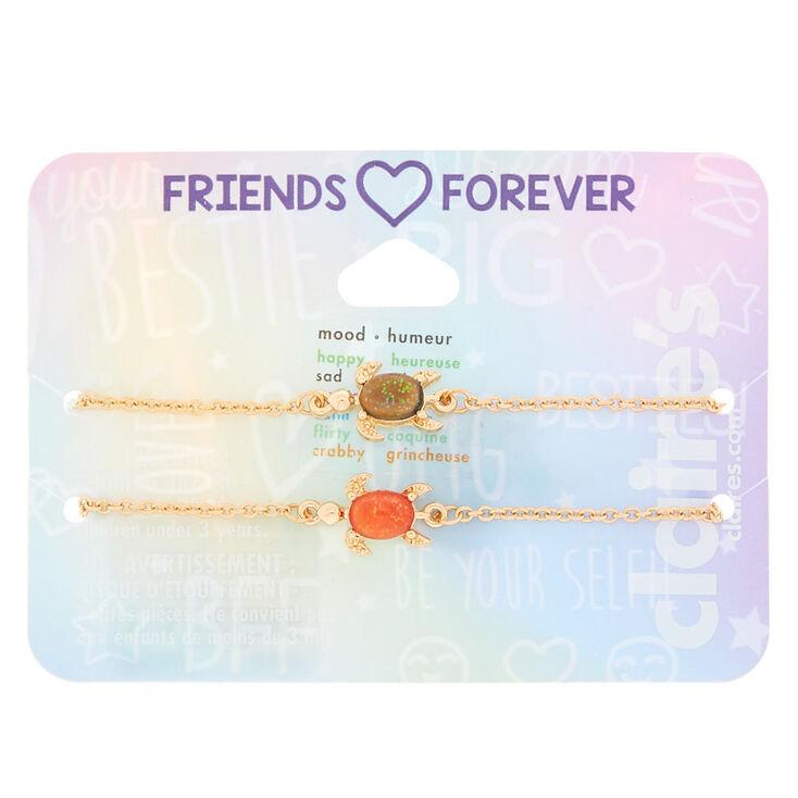 c9096d467ca15 Gold Mood Turtle Chain Friendship Bracelets - 2 Pack