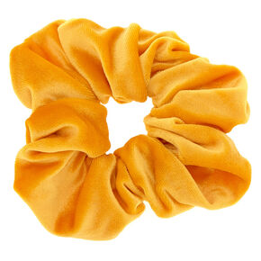 Medium Velvet Hair Scrunchie - Mustard,