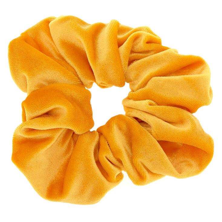 Medium Velvet Hair Scrunchie - Mustard,