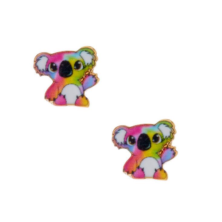 18ct Gold Plated Kylie the Koala Stud Earrings,