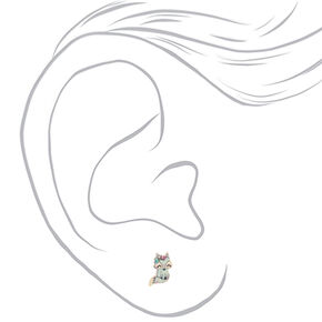 Trixie the Fox Stud Earrings - Mint,