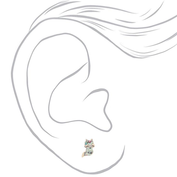 Trixie the Fox Stud Earrings - Mint,