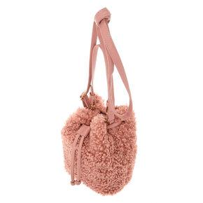 cbaf16116 Sherpa Bucket Crossbody Bag - Pink