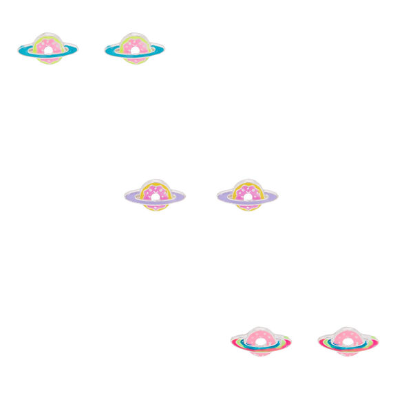 Claire's - saturn donut stud earrings - 1