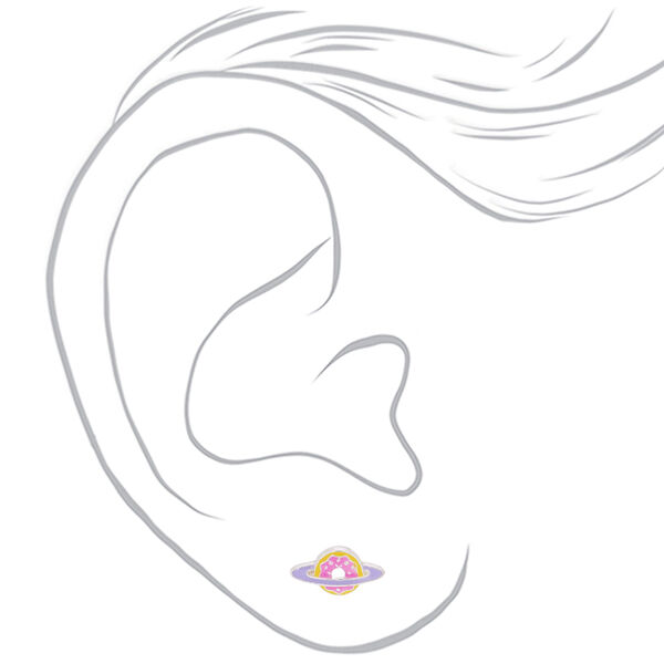 Claire's - saturn donut stud earrings - 2