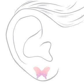 Pastel Ombre Glow In the Dark Butterfly Stud Earrings,