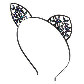Ivy Cat Ears Headband - Black,