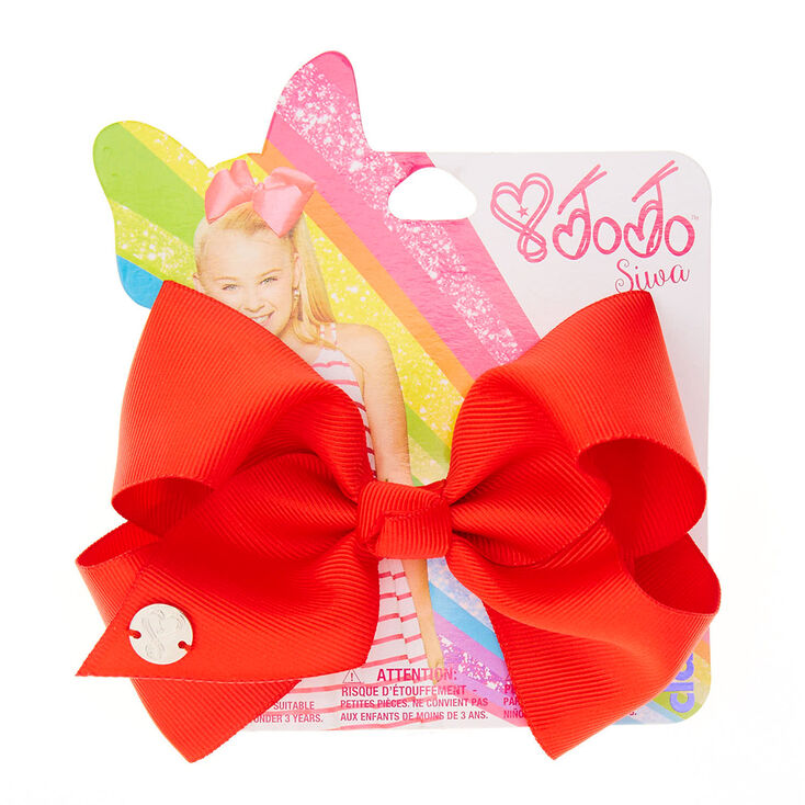 jojo siwa small red back to school hair bow