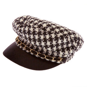 Go to Product: Houndstooth Captain Hat - Black from Claires