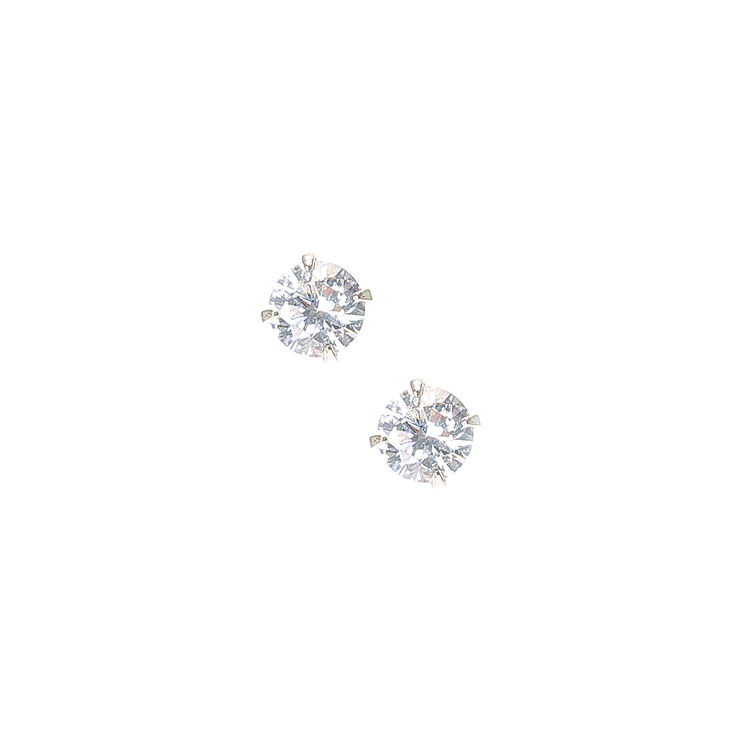 Round Diamante 6mm Stud Earrings