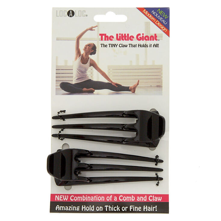The Little Giant™ Hair Claw - Black, 2 Pack,