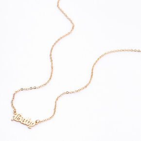 Gold Baby Pendant Necklace,