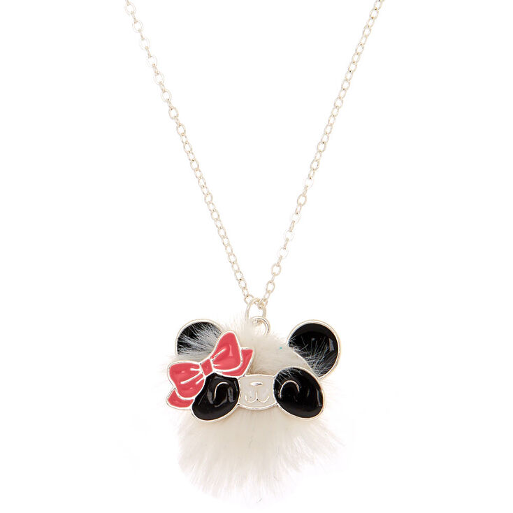 furry maya the panda pendant necklace white claire s us