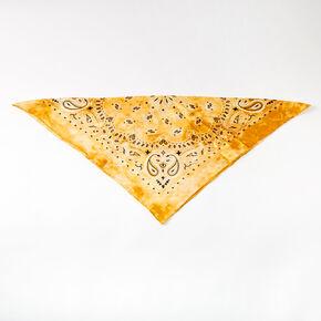 Bandeau bandana tie-dye soyeux - Jaune,