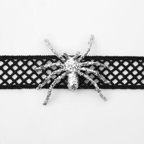 Ras-de-cou araignée pailletée - Noir,