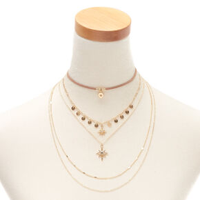 70a2bd2e1 Gold Starburst Multi Strand Choker Necklace