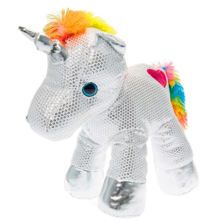Limited Edition Large Rainbow Unicorn Plush Toy Claire S Us