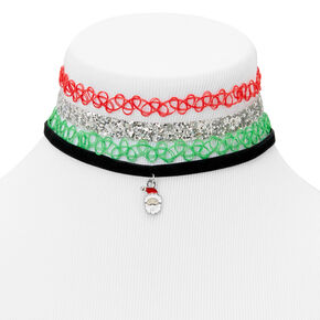 Holiday Choker Necklaces - 4 Pack,