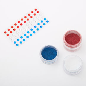Fourth Of July Glitter & Gem Kit,