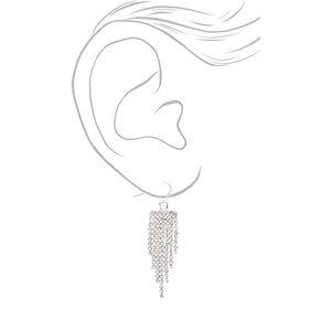 Silver Rhinestone Multi-Row Bracelet & Earrings Jewelry Set - 2 Pack,