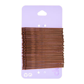 Large Bobby Pins - Brown, 30 Pack,