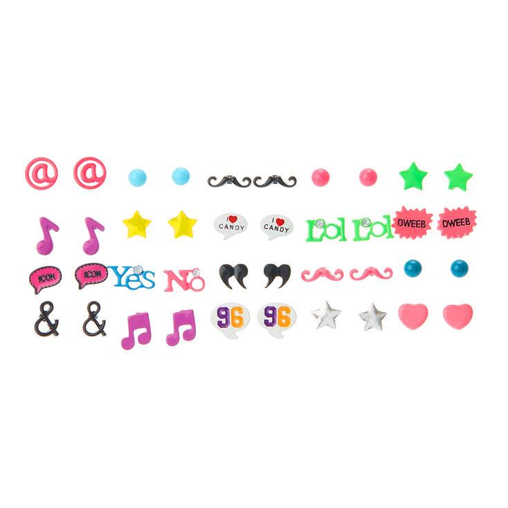 20 Pack Fun Bright S Stud Earrings