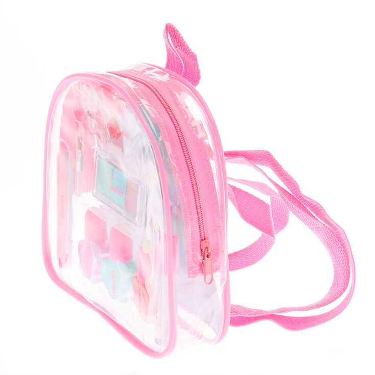 Claire's Club Pastel Glitter Backpack Makeup Set,