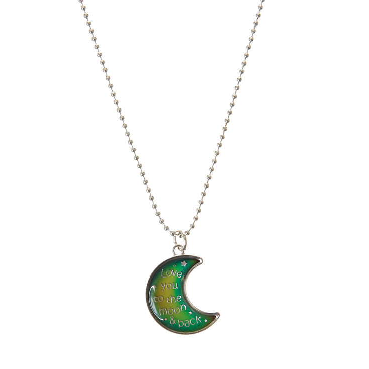 Crescent moon pendant mood necklace claires us crescent moon pendant mood necklace aloadofball Image collections