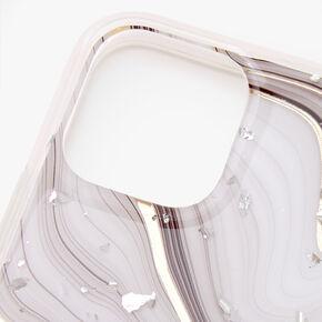 Coque de portable motif agate gris et blanc - Compatible avec iPhone 11 Pro,