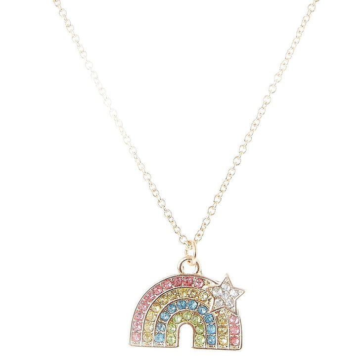a world necklace pendant rainbow my petites like gold color plated detail you product lennebelle