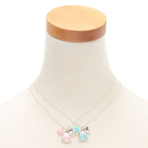 Best Friends Pastel Turtle Pendant Necklaces - 2 Pack,