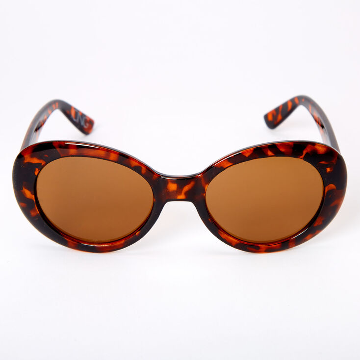 Round Mod Tortoiseshell Sunglasses - Brown,