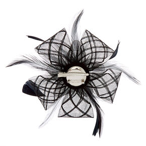 Criss Cross Hair Fascinator - Black,