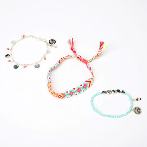 Sky Brown™ Skate Braided bracelets – Mint, 3 pack,