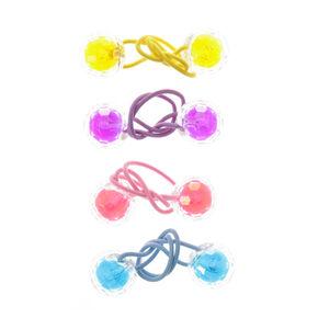 Claire's Club Bright Rainbow Disco Hair Bobbles - 4 Pack,