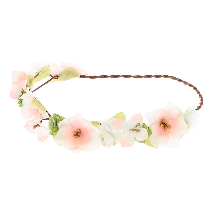 Pastel Flower Crown Headwrap - Pink  dfe3f1b0dc3