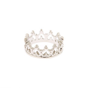 Silver Crown Midi Ring,
