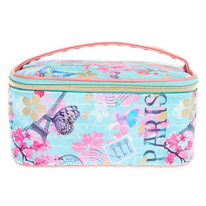 Parisian Butterfly Makeup Bag - Mint,